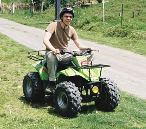 Jon on a quad bike